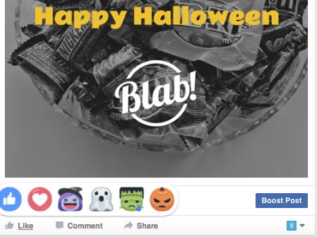 Facebook Halloween Emoji Reactions