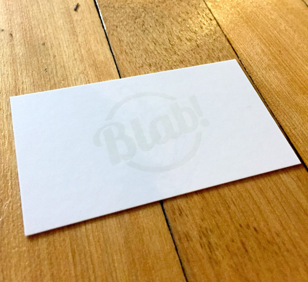 Blab Media Business Cards